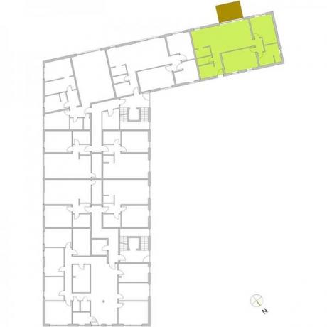 Ortungsgrundriss Erdgeschoss - Wohnung 01