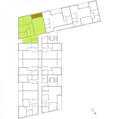 Ortungsgrundriss Obergeschoss - Wohnung 10