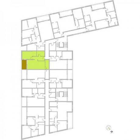 Ortungsgrundriss Obergeschoss - Wohnung 11