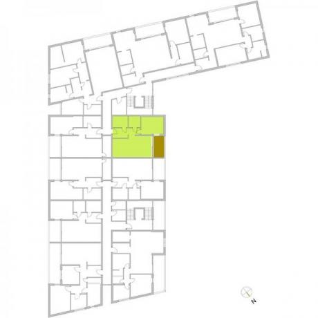 Ortungsgrundriss Obergeschoss - Wohnung 12