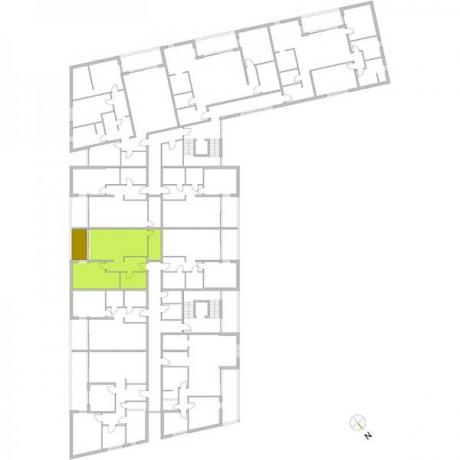 Ortungsgrundriss Obergeschoss - Wohnung 13