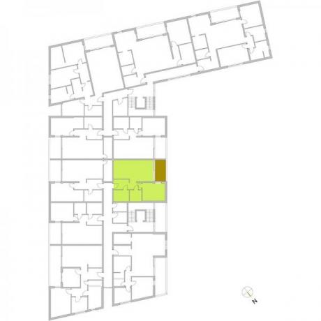 Ortungsgrundriss Obergeschoss - Wohnung 14