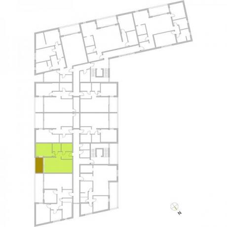Ortungsgrundriss Obergeschoss - Wohnung 15