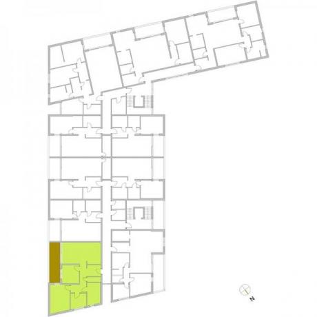 Ortungsgrundriss Obergeschoss - Wohnung 16