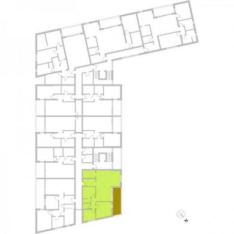Ortungsgrundriss Obergeschoss- Wohnung 17
