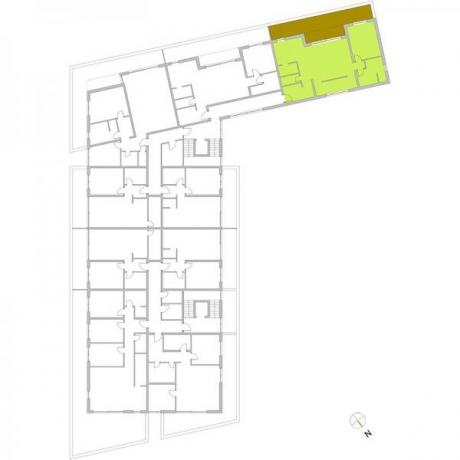 Ortungsgrundriss Staffelgeschoss - Wohnung 18