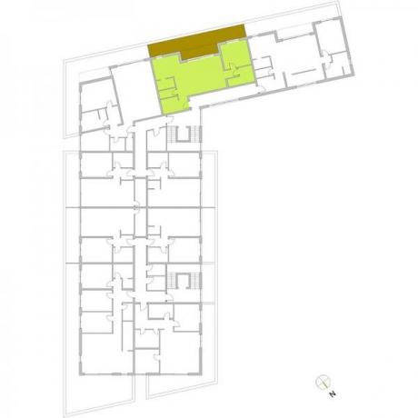 Ortungsgrundriss Staffelgeschoss - Wohnung 19