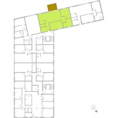 Ortungsgrundriss Erdgeschoss - Wohnung 02