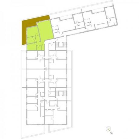 Ortungsgrundriss Staffelgeschoss - Wohnung 20