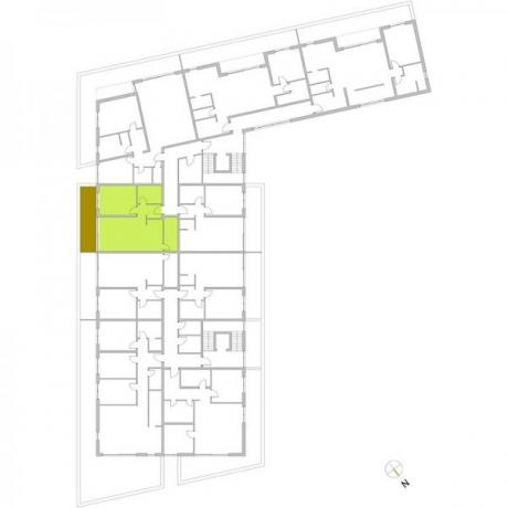 Ortungsgrundriss Staffelgeschos - Wohnung 21
