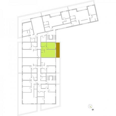 Ortungsgrundriss Staffelgeschoss - Wohnung 22