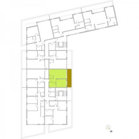 Ortungsgrundriss Staffelgeschoss - Wohnung 24