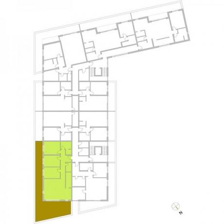 Ortungsgrundriss Staffelgeschoss - Wohnung 25