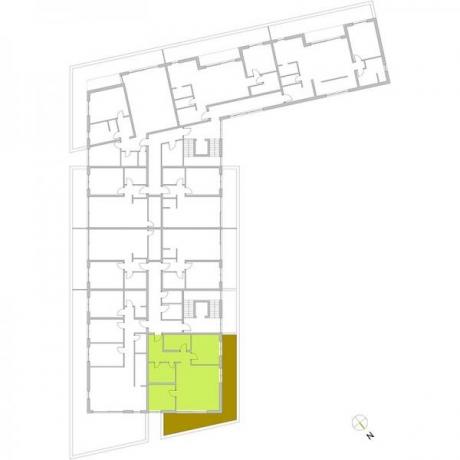 Ortungsgrundriss Staffelgeschoss - Wohnung 26
