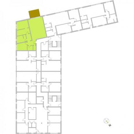 Ortungsgrundriss Erdgeschoss - Wohnung 03