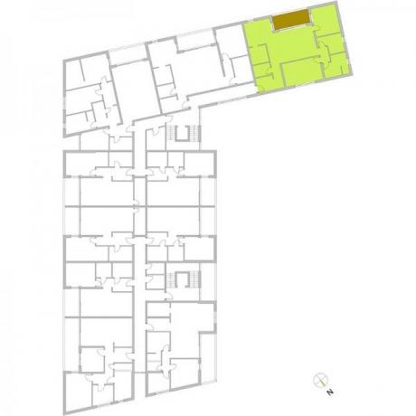 Ortungsgrundriss Obergeschoss - Wohnung 08