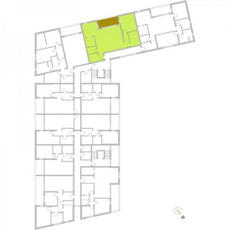 Ortungsgrundriss Obergeschoss - Wohnung 09